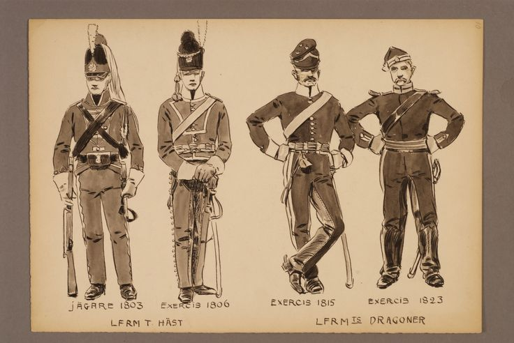 The Life regiment of dragoons and Life regiment of horse with exercise equipment by Einar von Strokirch
