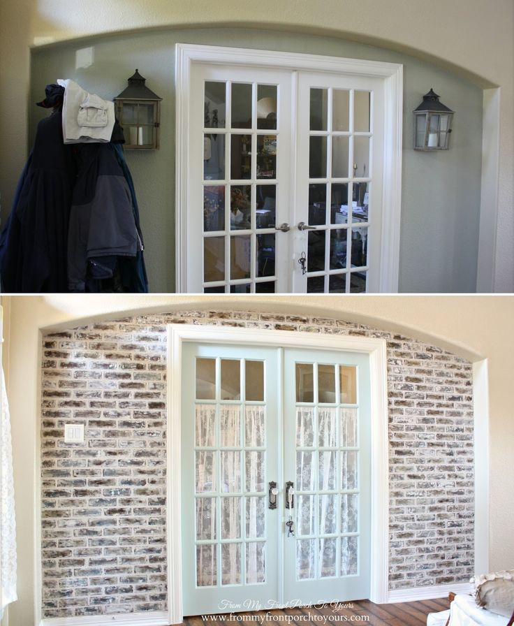 1000 ideas about faux brick walls on pinterest brick. Black Bedroom Furniture Sets. Home Design Ideas