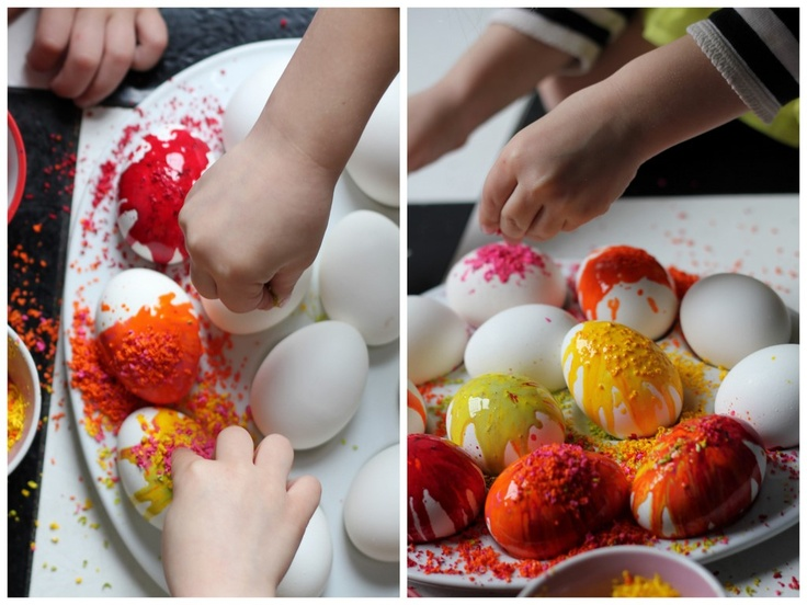 NYC Taught Me: My experience with melting crayon shavings on hot eggs