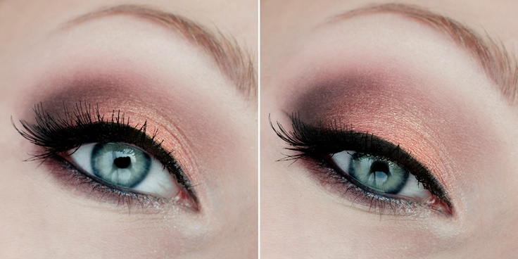 pink peach eye makeup