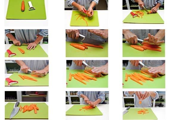 12 fantastiche immagini su lezioni di cucina su pinterest for Taglio alla julienne