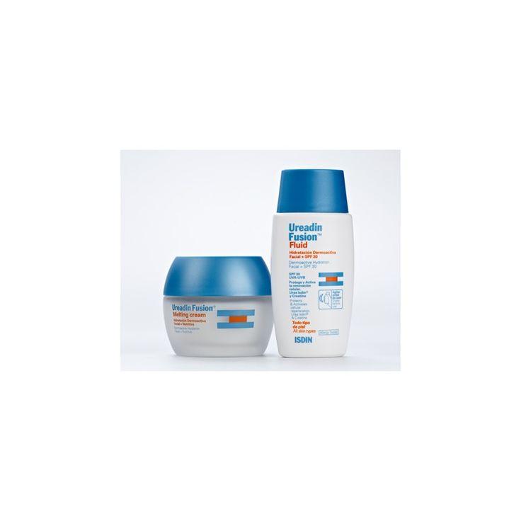 Pack Ureadin Fusion Fluid Crema de dia spf 30 +Crema de noche Melting. Hidrata, protege, nutre y regenara la #piel. #cosmeticos #farmaciaonline #isdin