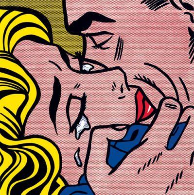 Roy Lichtenstein- Kiss.