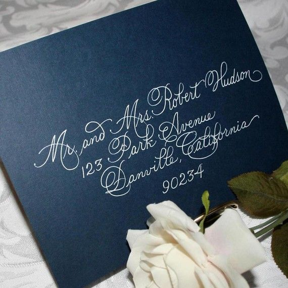 Calligraphy Wedding Envelope Addressing By Artfulcelebrations Gel Pen