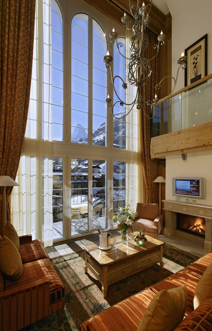 Suite with a view at Hotel Mont Cervin Palace in Zermatt, Switzerland