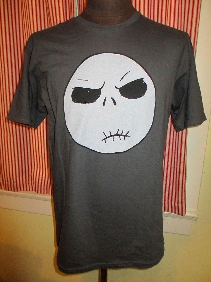 Tim Burton's The Nightmare Before Christmas Shirt Large Jack Skelton Sad/Happy