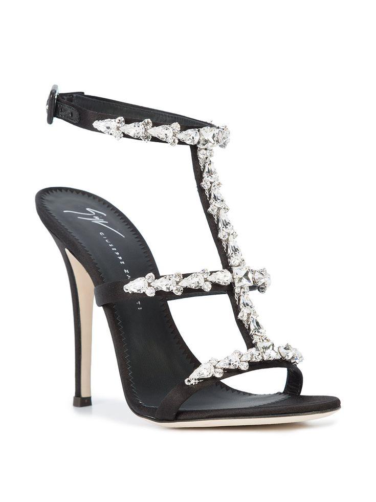 Giuseppe Zanotti Design Strappy Crystal Embellished Sandals - Farfetch