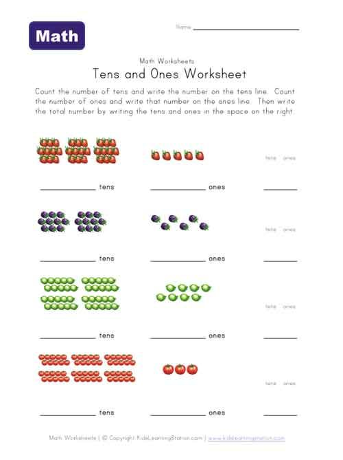 1000 Ideas About Tens And Ones Worksheets On Pinterest