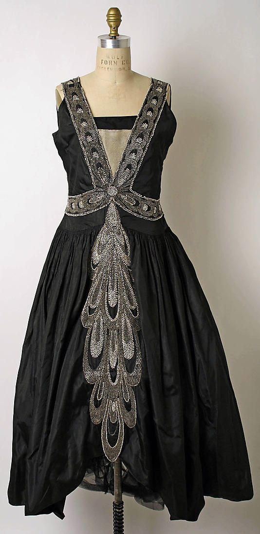 Dress (Robe de Style)  House of Lanvin  (French, founded 1889)    Designer:      Jeanne Lanvin (French, 1867–1946)  Date:      fall/winter 1926–27  Culture:      French  Medium:      silk, plastic, glass