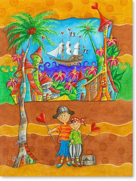 Perfect You searched for Pirat Atelier BuntePunkt fr hliche Wandbilder f rs Kinderzimmer