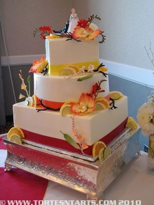 17 Best Images About Wedding Cakes Yellow Peach Orange Gold On Pinterest