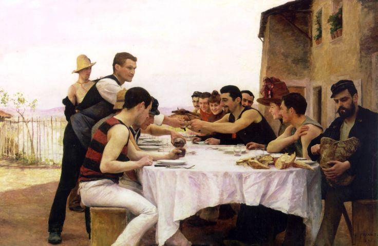 Les Canotiers de la Meurthe, 1888  emile Friant
