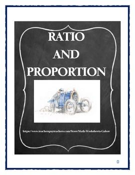 ratio and proportion exercises pdf