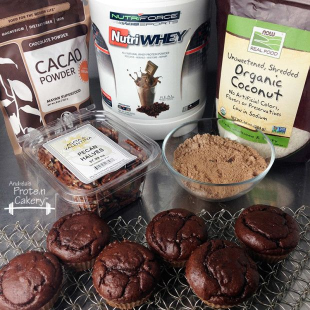 German Chocolate Protein Cupcakes - Andréa's Protein Cakery