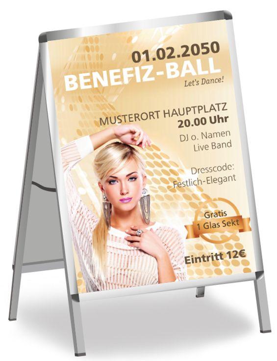 Ball-Postervorlagen von www.onlineprintxxl.com #benefiz #veranstaltung #event #fest #plakatvorlagen #posterdesign #onlineprintxxl