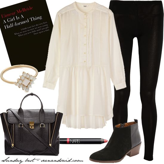 Simple monochrome outfit
