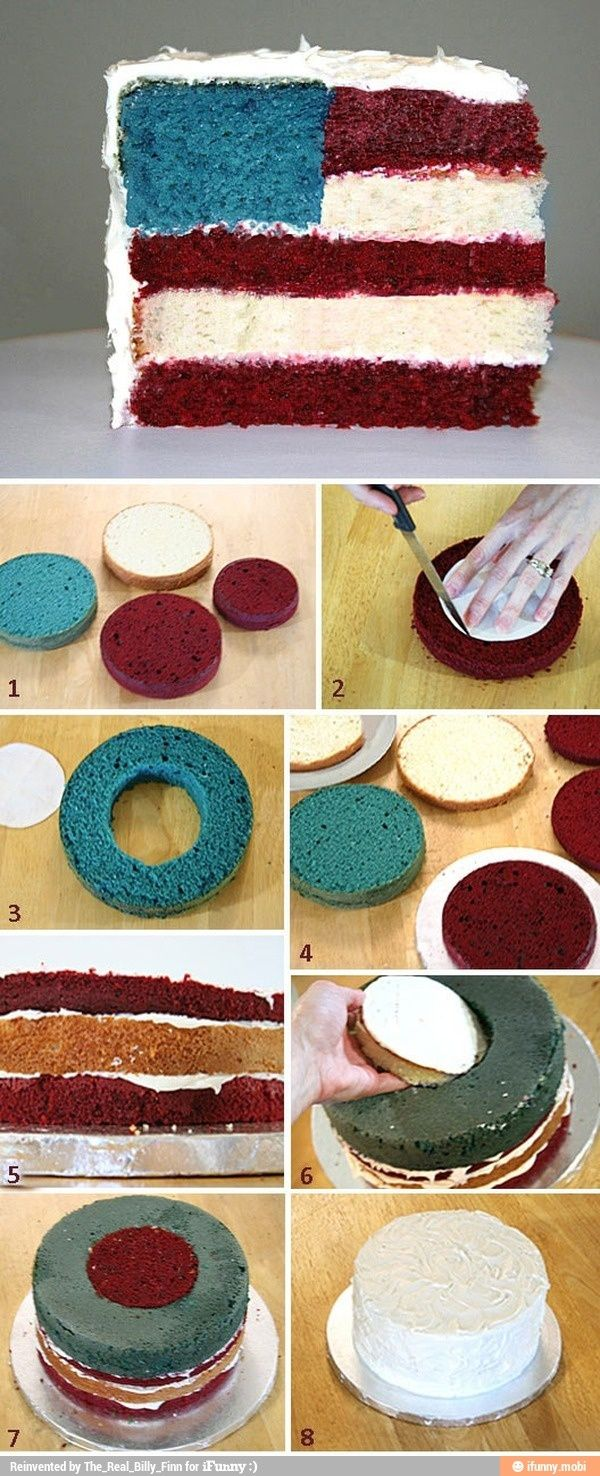 Best 25 creative cake decorating ideas on pinterest for American flag cake decoration