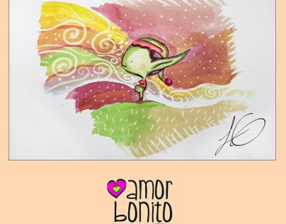 """Check out new work on my @Behance portfolio: """"Amor bonito duende"""" http://be.net/gallery/51641581/Amor-bonito-duende"""