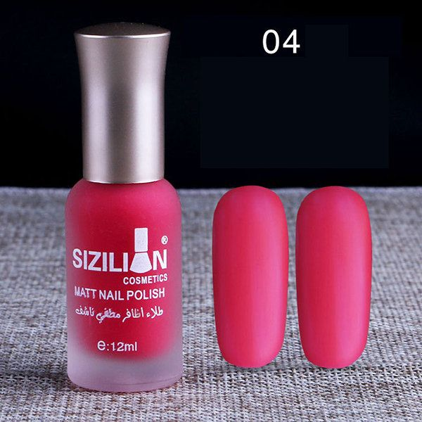 12ml Matte Nail Polish Frosted Bottle Long Lasting Nails Art Varnish Quick Dry