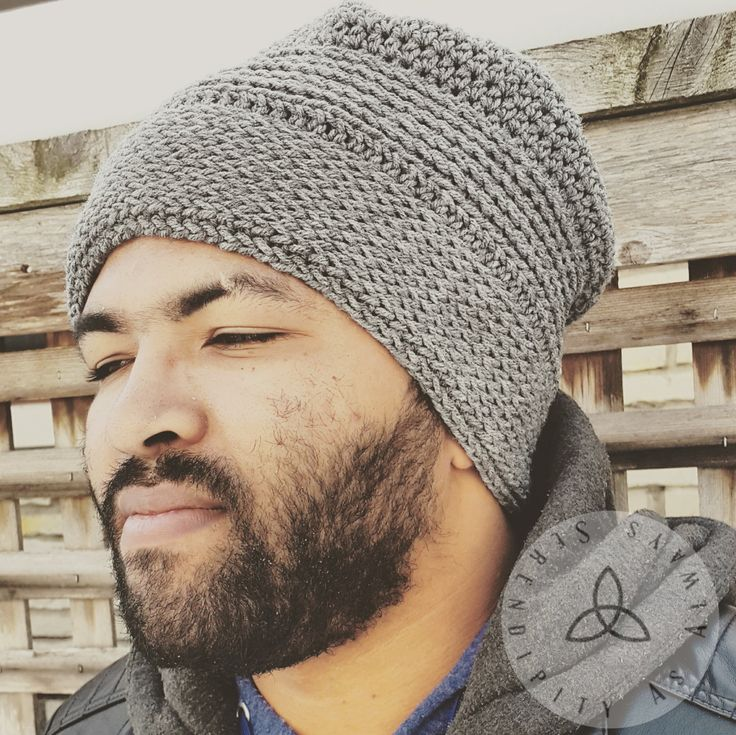 Crochet PATTERN | His Knittish Slouch Beanie | Crochet Knit-like Man's Hat | Crochet Boys Slouch Cap | Winter Hat Pattern | Digital Download - pinned by pin4etsy.com