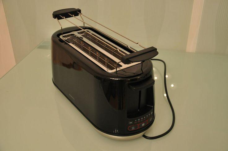 Langschlitztoaster Toaster für American Toast 1500 Watt Brötchenrostaufsatz