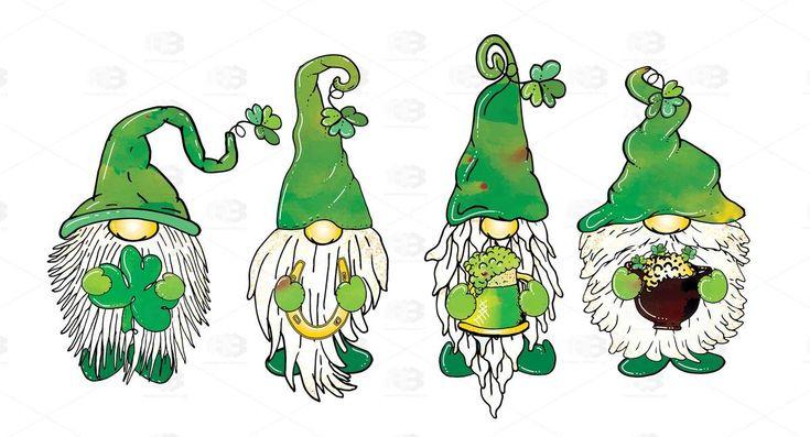 Download St. Patrick's Day | Gnome Quartet | Watercolor Pattern ...