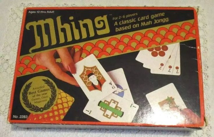 VINTAGE MHING CLASSIC CARD GAME BASED ON MAH JONGG #2283 - EXCELLENT! #Suntex