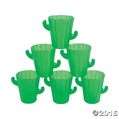 Cactus Shot Glasses: $5 for 12 #drink #food