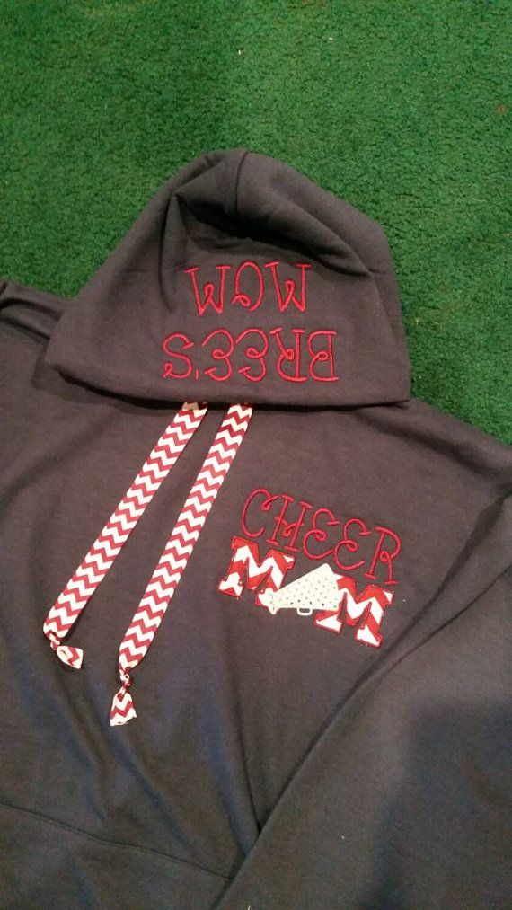 Cheer mom hooded sweatshirt by SSouthernMonogram on Etsy