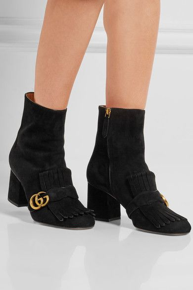 Heel measures approximately 75mm/ 3 inches  Black suede Concealed zip fastening along side  Made in Italy