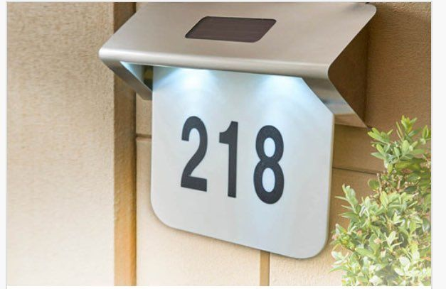"""Di's Home Decor on Twitter: """"Solar House Number £15 #solar #solarlight #sign #housesign #housenumber #wineoclock #womeninbiz #home #outsidedecor #outside #HomeSweetHome https://t.co/Gi05KdbnB9"""""""