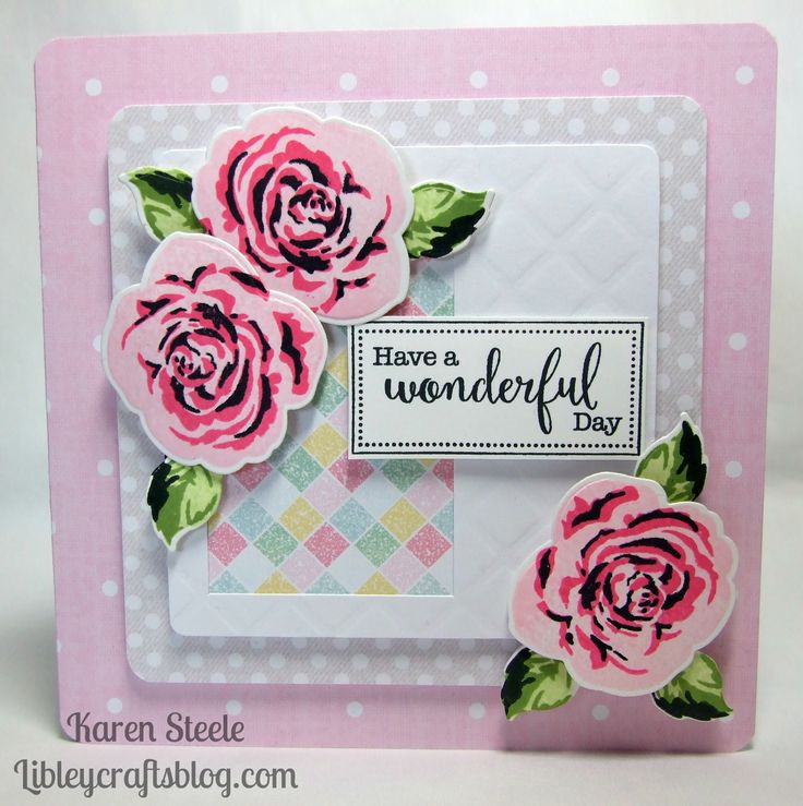This was made using a free Altenew stamp and die that came with April's edition of Simply Cards and Papercraft.  All papers are Craftwork Cards.