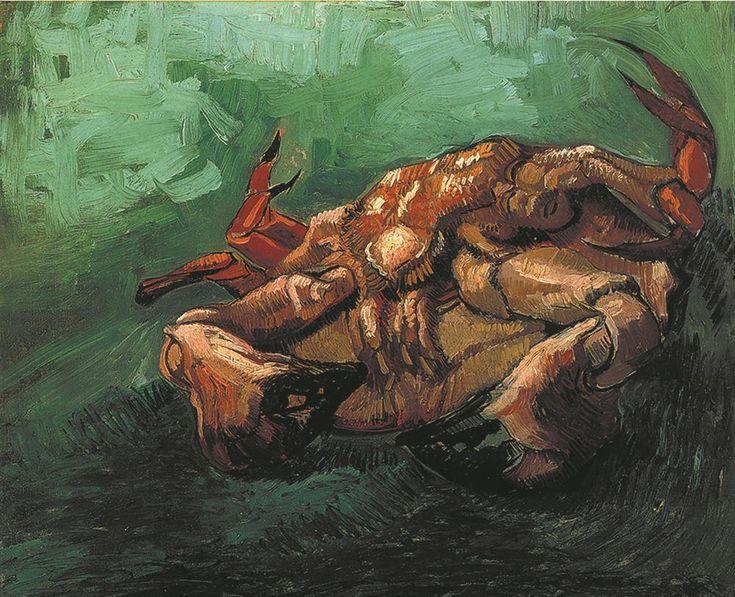Краб на спине винсента ван гога картины 100% ручной работы размножение музей качество животных картина маслом на холсте 40 x 50 см