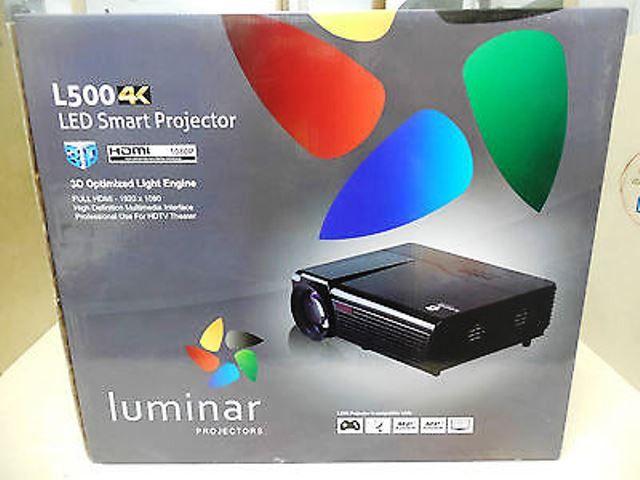 Luminar L500 4k Led Full 1080p Smart Projector And Luminar