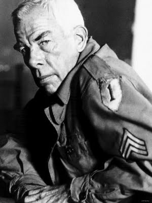 Great actor, Academy Award winner, scout sniper, war hero ... wounded in the buttocks during the battle for Guam.