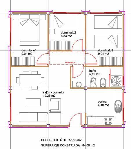 En distribuidor bajar el techo y meterle cama de uno de - Como hacer plano de casa ...