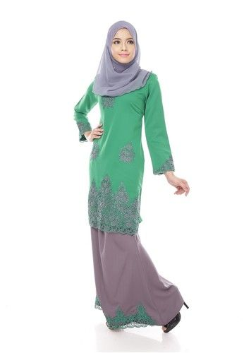 Maribeli Butik Jasmine Kurung - Green (Green Grey) from Maribeli Butik in Grey and Green Jasmine Modern Kurung is the latest collections from MARIBELI BUTIK made of a very high quality, comfortable to wear, and very nice cotton material.- Perfect tailor made.- High quality cotton- Latest design- Suitable for all oc... #bajukurung #bajukurungmoden
