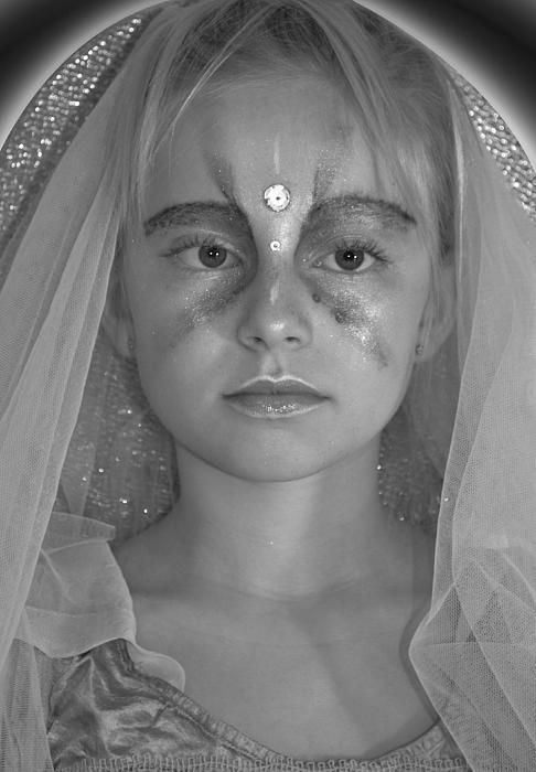 Photo of young girl with makeup and clothes like saint #saint #beautiful #posterforsale
