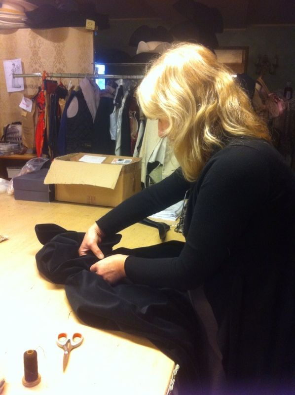 Decorating a coat at Atelier Marega, Venice. All is handmade and with attention for details.  www.marega.it