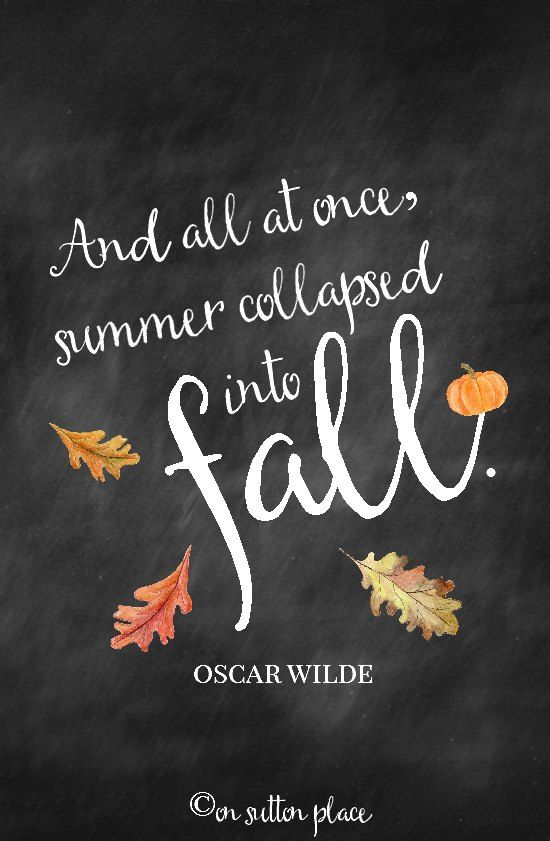 "Home Style Saturdays | Natural fall decor in the bedroom & dining room, a s'more bar, vintage decorating tips, home tours. Oscar Wilde quote chalkboard printable. ""And all at once, summer collapsed into fall."""