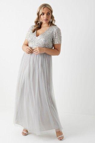 ed5adabe529336 Maya Curve Sequined Maxi Dress