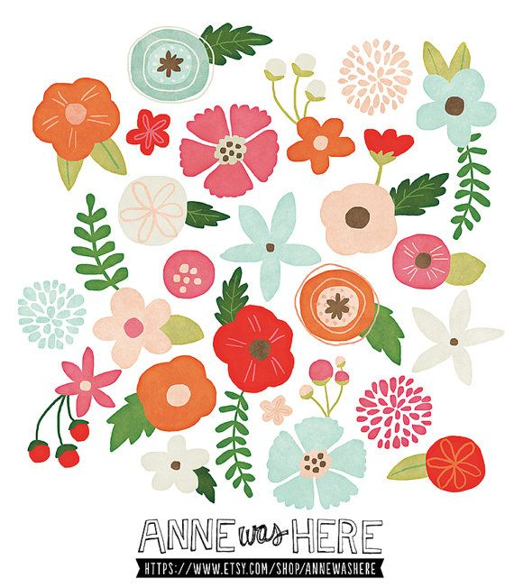 Hey, I found this really awesome Etsy listing at http://www.etsy.com/listing/154863773/whimsical-flowers-digital-clipart