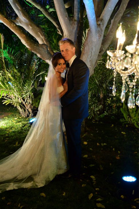 'The Bachelor' season 17 star Sean Lowe and his bride Catherine Guidicci who married live on air, 26th Jan 2014.