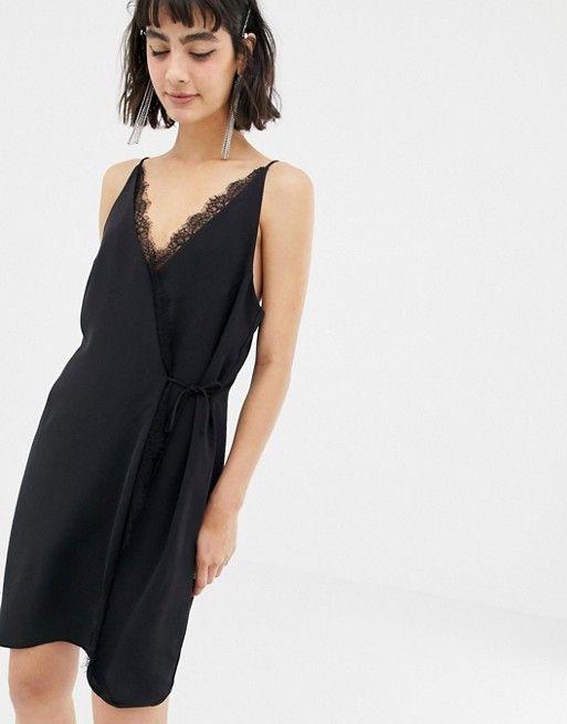 Cami Front Dress Lace Wrap In 2019 Eyelash Black Mango hrsBodtxQC
