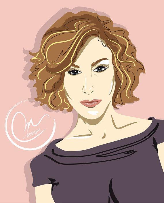 Avatar  Likeness  Custom Illustration  Woman by lovedesigning #vectorgirl #illustration #likeness #portrait #celebrity #SarahJessicaParker