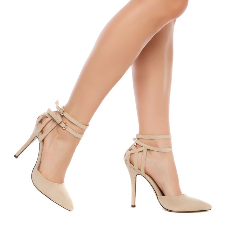 Beautiful nude heels with ankle straps. www.louboutinboots.at.nr   Fashion high heels, fashion girls shoes and men shoes ,just here with $129 best price