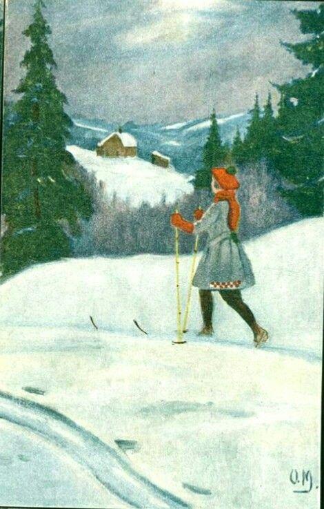 Julekort Otto Moe utg Küenholdt