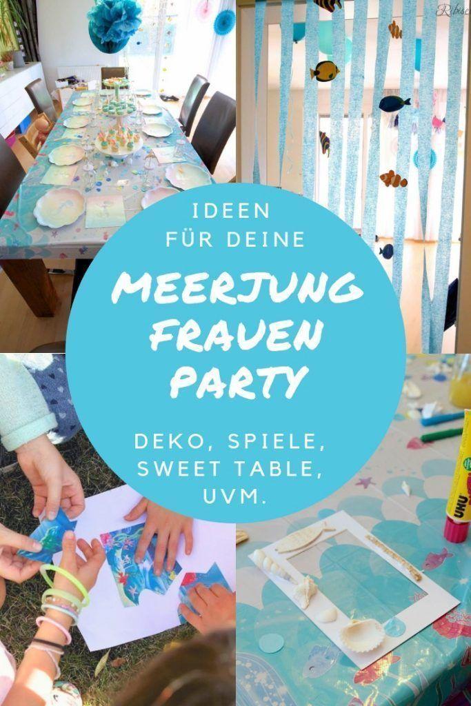 Hier finden Sie alles für Ihre Meerjungfrauenparty: Decode, Sweet Table mit   – Bastelideen Kinder