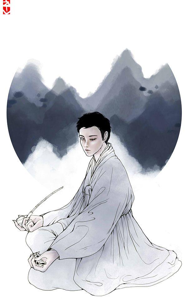 myo-jin by - chooon, via Behance , oriental, korea