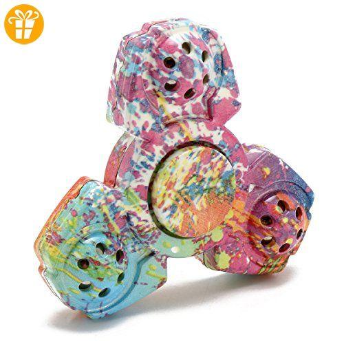 Spinner,CAMTOA Hand Spinner Toy Fidget Spielzeug,Stress Reducer für ADD, ADHS, Angst und Autismus Erwachsene Kinder Tri-Spinner - Fidget spinner (*Partner-Link)